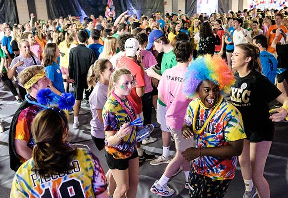 WFU students dance during the 2019 Wake N Shake