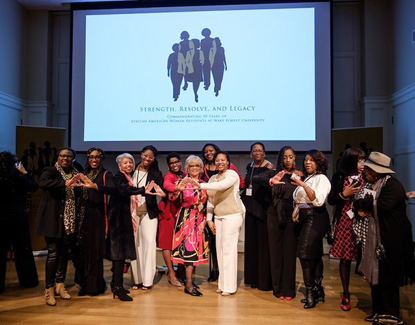 Wake Forest's first black women residential students were honored during an event at Byrum Welcome Center on Jan. 31, 2020