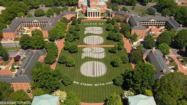 The Quad at Commencement 2020