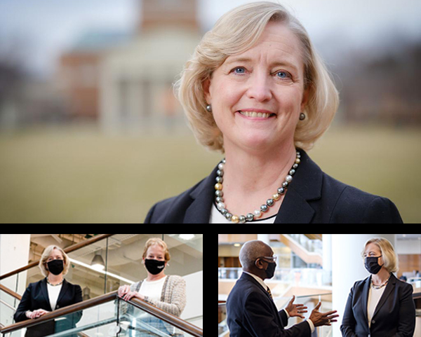 Images of new WFU President Susan Wente
